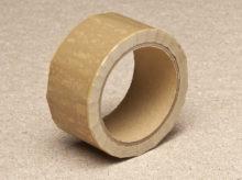 Tamper evident tape gold